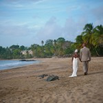 A newlywed couple on Stonehaven Bay Tobago. Courtesy the Tobago House of Assembly (THA)