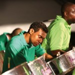 Caribbean Airlines Invaders Steel Orchestra perform at Pan, Parang and Pork.