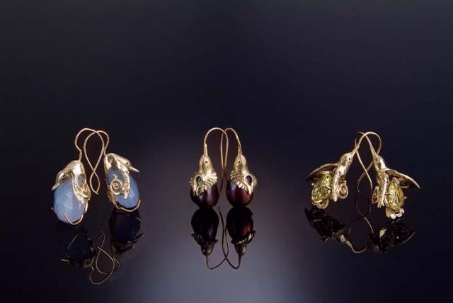 Hand-crafted earrings by Jasmine Thomas Girvan of Trinidad