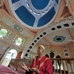Worship at a Muslim Mosque in Trinidad. Photo: Edison Boodoosingh
