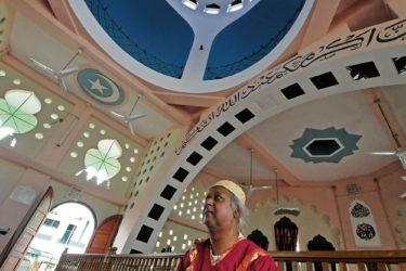 Worship at a Muslim Mosque in Trinidad. Photo: Edison Boodoosingh