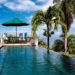 The infinity pool at one of the Villas at Stonehaven in Tobago