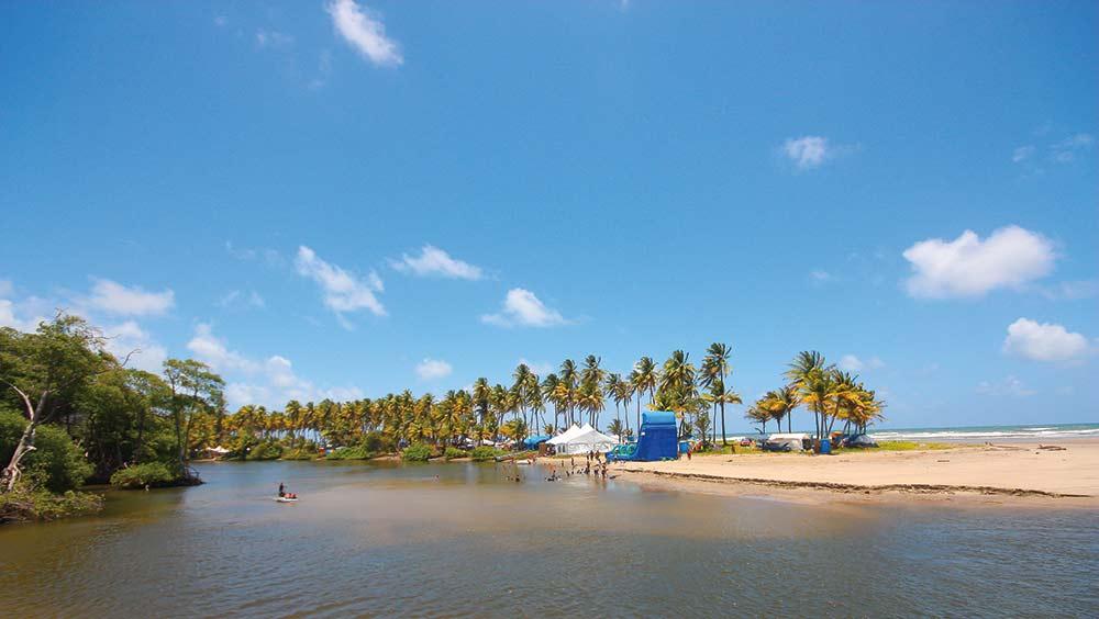 The Nariva river meets the sea near Manzanilla. Photo: Nicholas Bhajan