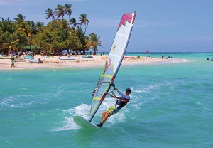 Parasailing off Pigeon Point with Radical Sports Tobago