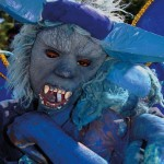 A blue devil, one of the traditional characters of Trinidad Carnival. Photo: Ryan Kong