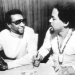 Stokely Carmichael (left) and Michael Thelwell in 1972