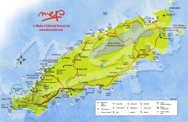 Map of Tobago. Copyright MEP Publishers