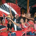 Trini fans enjoy cricket at the Queen's Park Oval, Trinidad