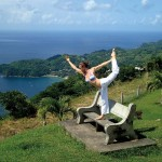 Yoga atop Flagstaff Hill, Tobago. Photo: Ernie Matthews