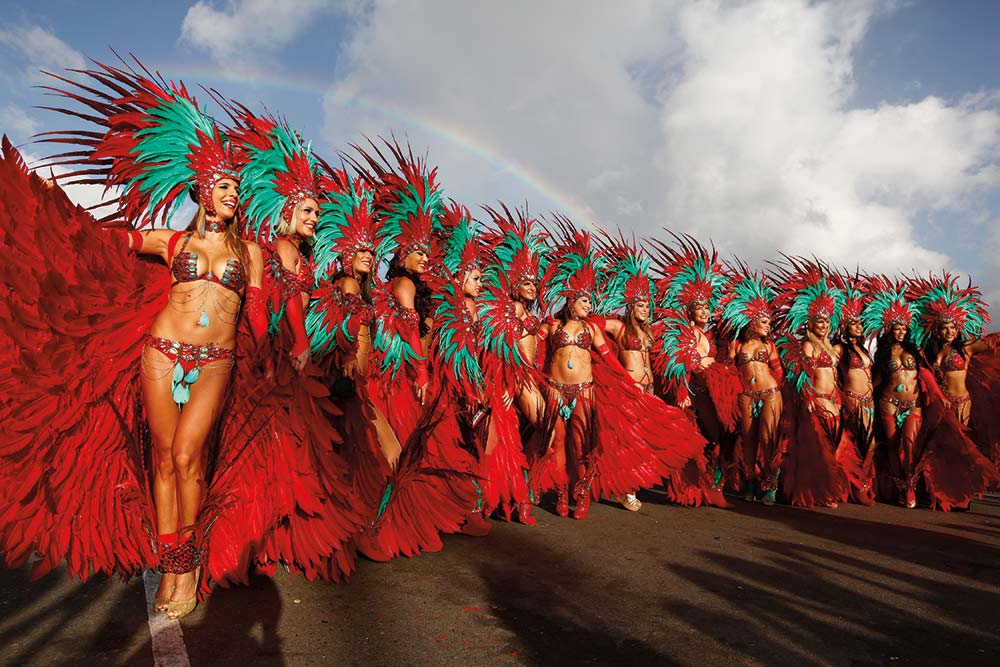 "Hart's was one of the earliest ""bikini, beads & feathers"" bands in Trinidad Carnival. Photo: Chris Anderson"