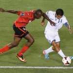 Trinidad & Tobago Soca Warriors play defence