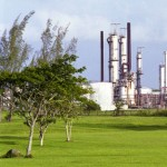 Petrotrin oil and gas refinery. Photographer: Courtesy T&T Business Guide