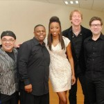 Heather and her band backstage at NAPA in Trinidad. Photographer: Courtesy Heather Headley
