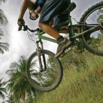 Main Ridge mountain biking. Photographer: Skene Howie