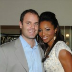 Heather with husband Brian Musso backstage at NAPA in Trinidad. Photographer: Courtesy Heather Headley