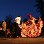 Wakeup call to the sea, part of the Tobago Heritage Festival at Black Rock. Photographer: Skene Howie