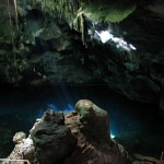 The blue grotto at the Gasparee Caves off Chaguaramas. Photographer: Caroline Taylor