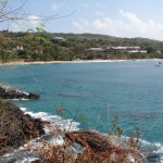 A view of Stonehaven Bay from Fort Bennet, Tobago. Photographer: Caroline Taylor