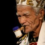 Gilbert De Freitas plays Popeye in the sailor mas tradition. Photographer: Andrea de Silva