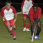 Hockey action. Photographer: Discover T&T