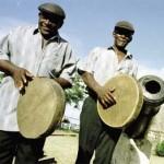 Tobago percussionists make a joyful noise. Photographer: Alex Smailes