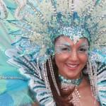 A Trini Revellers masquerader. Photographer: Edison Boodoosingh