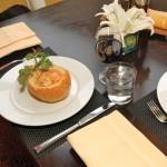 Bouillabaisse soup with leeks, tomatos, carrots, pimentos, and mixed seafood. Photographer: Desiree McEachrane