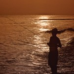 Sunset fishing on the Leeward Coast. Photographer: Mark Meredith