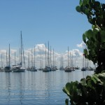 Boats moored in a Chaguaramas marina. Photographer: Aisha Provoteaux