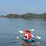 Kayaking on Williams Bay in Chaguaramas. Photographer: Aisha Provoteaux