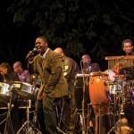 Fonclair performs at the San Fernando Jazz Fest. Photographer: Mark Lyndersay
