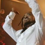 Soca artist Machel Montano whips the crowd in to a frenzy. Photographer: Mark Lyndersay