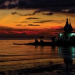 The sun sets at the Temple in the Sea, Waterloo. Photographer: Photography by Ife