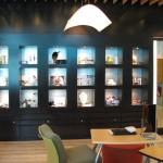 The clean, modern design of Ferreira Optique in West Mall. Photographer: Courtesy Ferreira Optical