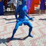 A blue devil on the Scarborough Esplanade. Photographer: Onika Henry