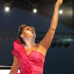 Cecilia Salazar performing her Oracle duties for the K2K Carnival 2012 launch at Sauté Trinbago. Photographer: Courtesy K2K