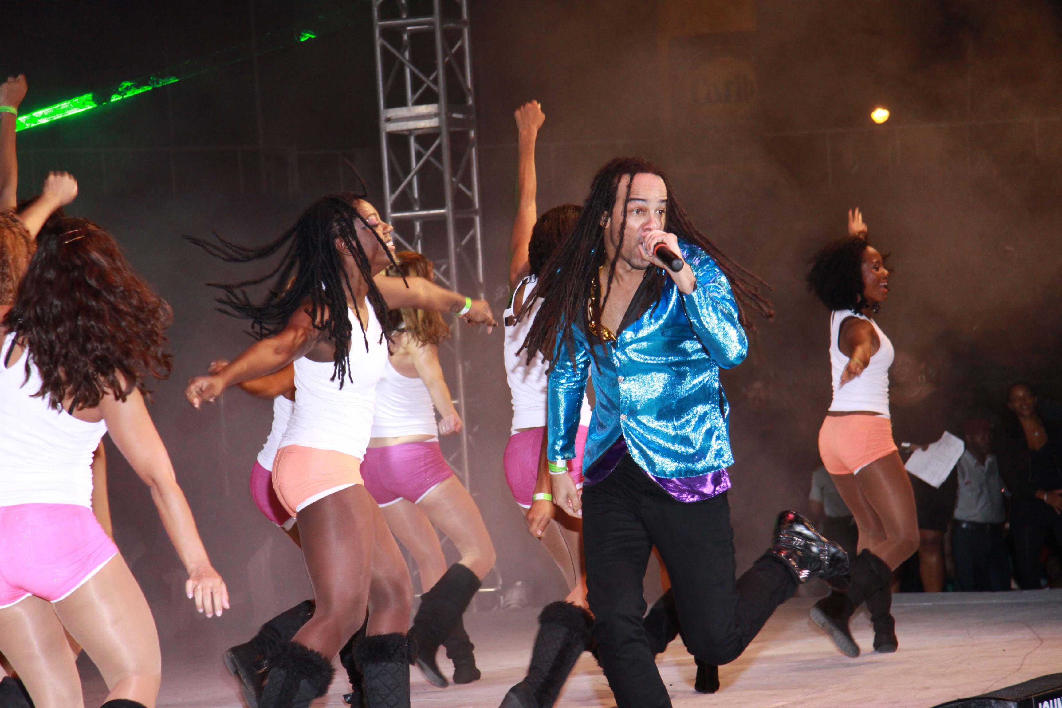 The 2011 International Groovy Soca Monarch Kees Dieffenthaller. Photographer: Courtesy Carnival TV