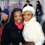Headley with Mary J Blige at the inauguration of US President Barack Obama in 2009. Photographer: Courtesy Heather Headley