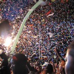 Revellers at the Machel Montano AC concert. Photographer: Aisha Provoteaux
