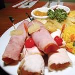 Christmas ham & turkey platter at Woodford Café. Photographer: Desiree McEachrane