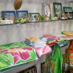 Local craft and fabrics on sale. Photographer: Courtesy Sapodilla Gift Shop