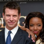 "Heather Headley with Lloyd Owen at the launch of ""The Bodyguard"" musical in London. Photographer: Ben Pruchnie/Getty Images Europe (courtesy The Bodyguard)"