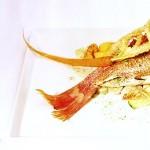 Delicious red fish as a succulent main course. Photographer: Courtesy Battimamzelle restaurant