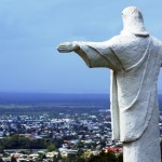 The Christ the Redeemer statue at Mount St Benedict. Photographer: Owen Washington