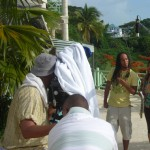 "Filming ""The Reef"" television series in Tobago. Photographer: Courtesy T&T Business Guide"