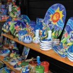 Hand-crafted ceramics on sale. Photographer: Tricia Dukhie