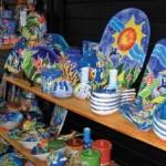 Hand-crafted ceramics on sale. Photographer: Tricia Dukhie