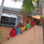 Some of the staff outside Veni Mangé. Photographer: Courtesy Veni Mangé