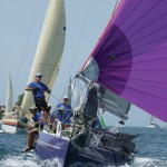 A boat in the Tobago sailing regatta. Photographer: Tim Wright