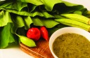 Local staple callaloo and ingredients. Photographer: Marc Seyon